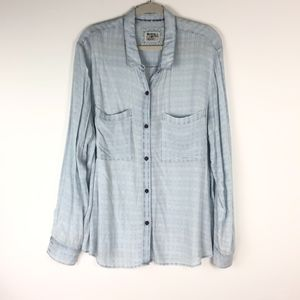 Anthropologie Holding Horses Chambray Button Up